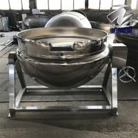 羊肉汤熬汤煮锅,大型食堂餐厅炒菜锅,蒸汽式可倾夹层锅